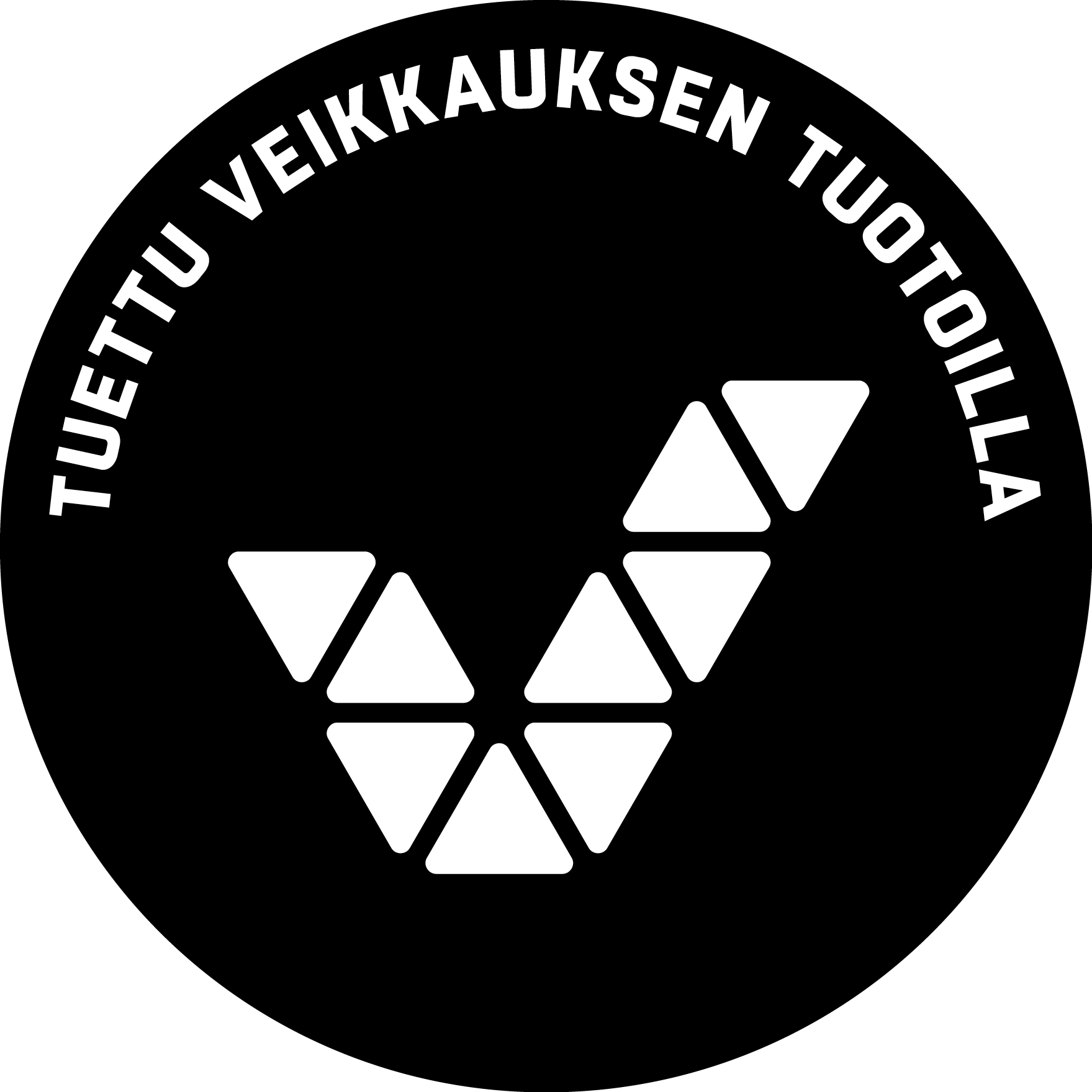"""Veikkauksen logo ja teksti """"Tuettu Veikkauksen tuotoilla""""."""